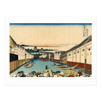 Nihonbashi Bridge in Edo Postcard