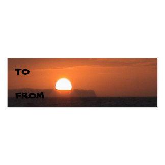 Ni'ihau Sunset Profile Card Pack Of Skinny Business Cards