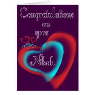 Nikah greetings greeting card