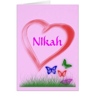 Nikah -  Wedding Celebration Card