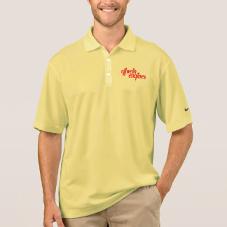 Nike Dry fit polo with Ellwein Engines Red logo