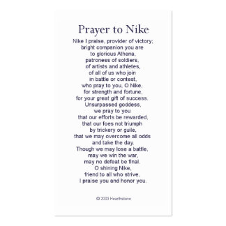 Nike (Victory) Prayer Card Business Card Template