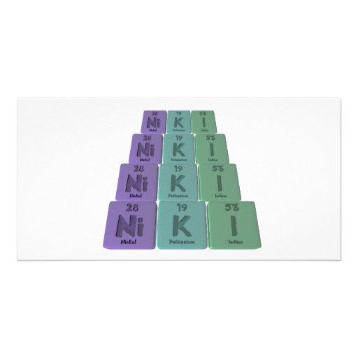 Niki  as Nickel Potassium Iodine Customized Photo Card