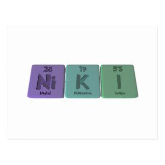 Niki  as Nickel Potassium Iodine Postcard
