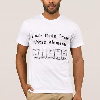 Nikita periodic table name shirt