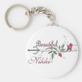 Nikki Basic Round Button Key Ring