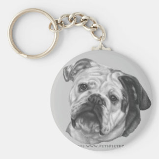 Nikki, Bulldog Basic Round Button Key Ring