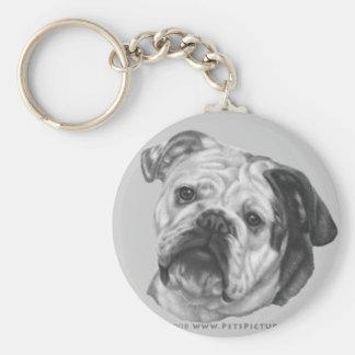 Nikki, Bulldog Basic Round Button Key Ring