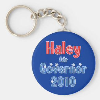 Nikki Haley for Governor 2010 Star Design Basic Round Button Key Ring