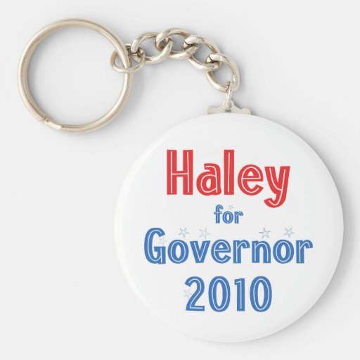 Nikki Haley for Governor 2010 Star Design Key Chain