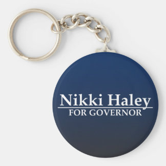 Nikki Haley for Governor Basic Round Button Key Ring