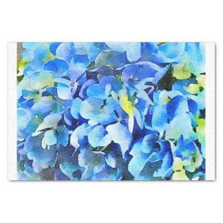 Nikko Blue Hydrangea Watercolor Tissue Paper