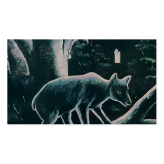 Niko Pirosmani- A Bear in a Moon Night Business Card Templates