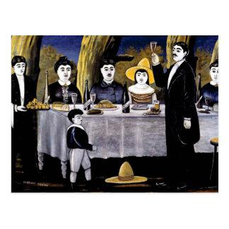 Niko Pirosmani - Family Feast Postcard