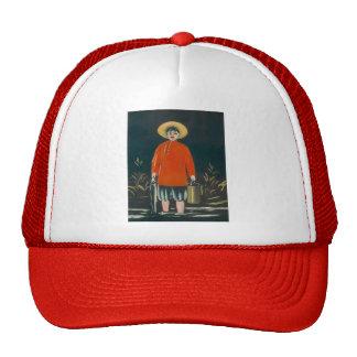 Niko Pirosmani- Fisherman in a Red Shirt Hat