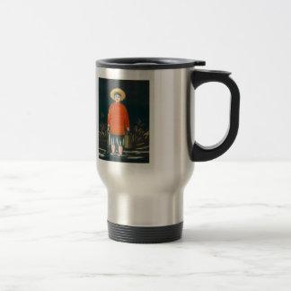 Niko Pirosmani- Fisherman in a Red Shirt Coffee Mugs