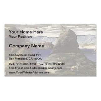 Niko Pirosmani- Hunting Scene, View of Black Sea Business Card Template