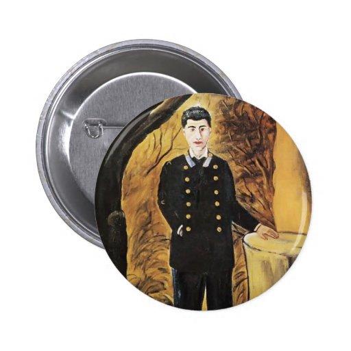 Niko Pirosmani- Portrait of Ilya Zdanevich Pinback Button