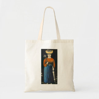Niko Pirosmani- Woman with Flowers and Parasol Tote Bag