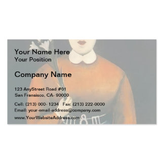 Niko Pirosmani- Woman with Flowers and Parasol Business Card Template