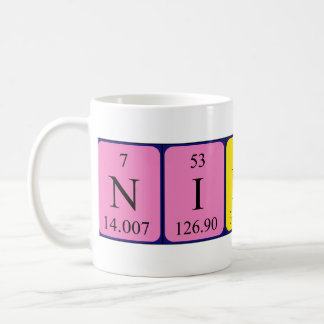 Nikola periodic table name mug
