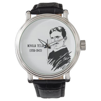 Nikola Tesla Art Vintage Wrist Watch