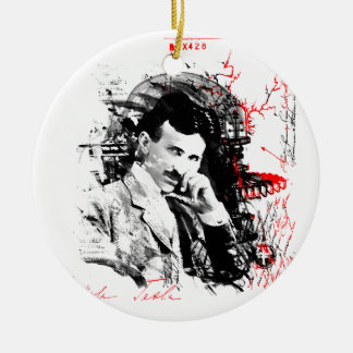 Nikola Tesla Ceramic Ornament