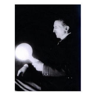 Nikola Tesla circa 1898. Postcard