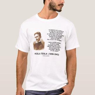 Nikola Tesla Edison Needle In Haystack Quote T-Shirt