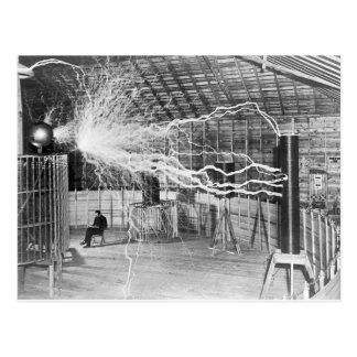 Nikola Tesla Electricity Postcard