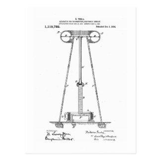 Nikola Tesla Energy Transmission Pantent US1119732 Postcard