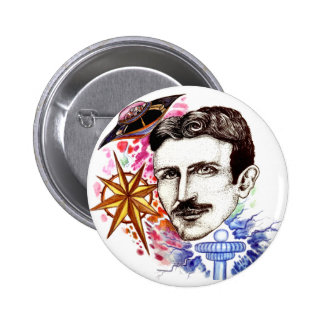 Nikola Tesla - Exclusively Handmade 6 Cm Round Badge