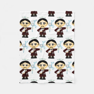 Nikola Tesla Fleece Blanket