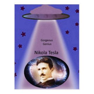 Nikola Tesla Genius Postcard