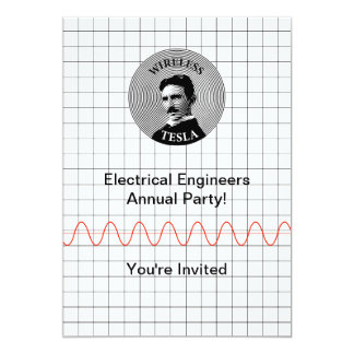 "Nikola Tesla 5"" X 7"" Invitation Card"