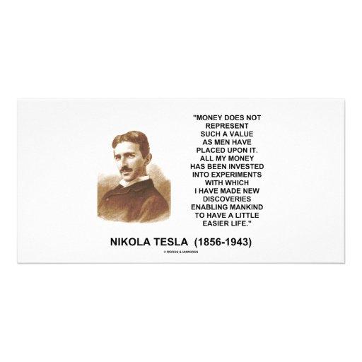 Nikola Tesla Money Value Discoveries Easier Life Custom Photo Card