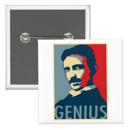Nikola Tesla Obama Pinback Buttons