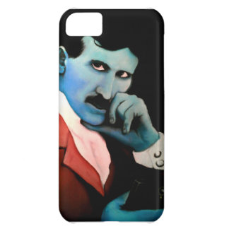 Nikola Tesla on phone iPhone 5C Case