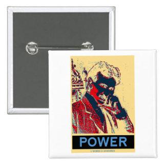Nikola Tesla Power (Obama-Like Poster) 15 Cm Square Badge