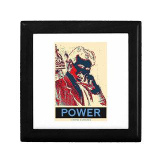 Nikola Tesla Power (Obama-Like Poster) Jewelry Box