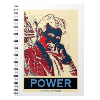 Nikola Tesla Power (Obama-Like Poster) Notebook