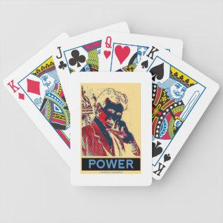 Nikola Tesla Power (Obama-Like Poster) Bicycle Card Deck