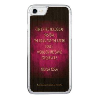 Nikola Tesla Quote - Same Frequencies Carved iPhone 7 Case