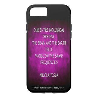 Nikola Tesla Quote - Same Frequencies iPhone 7 Case