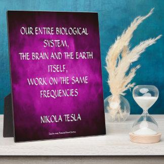Nikola Tesla Quote - Same Frequencies Plaque