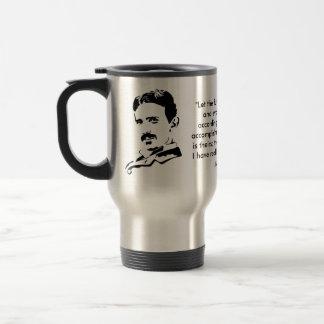 Nikola Tesla & Quote Stainless Steel Travel Mug