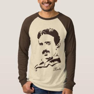 Nikola Tesla Rules! Brown T-Shirt