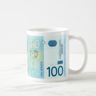 Nikola Tesla Serbian Currency Mug