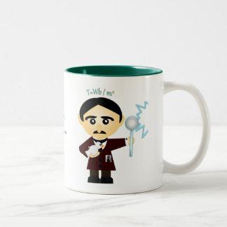 Nikola Tesla Two-Tone Mug