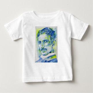 nikola tesla - watercolor portrait.1 baby T-Shirt